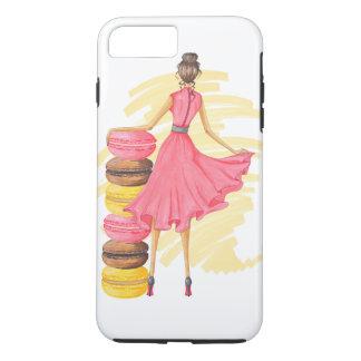 Meisje met Roze Macarons iPhone 8/7 Plus Hoesje