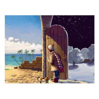 Meisje tussen de Zomer en de Winter Briefkaart