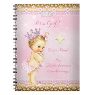 Meisje van de Blonde van het Baby shower van de Notitieboek