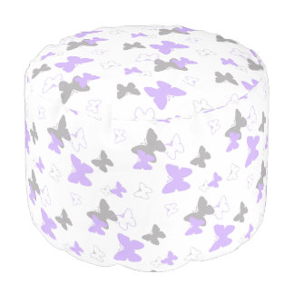 Meisje van de Paarse Lavendel van de vlinder het Poef