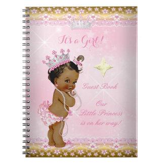 Meisje van het Baby shower van de Prinses van het Notitieboek