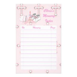 Meisjes die Wens dopen Gpersonaliseerd Briefpapier