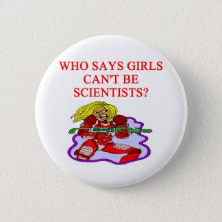 meisjes geek wetenschapper ronde button 5,7 cm