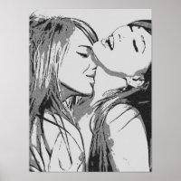 zwart en wit meisje lesbiennes