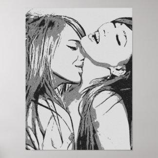 Meisjes gegaane Wilde, sexy lesbiennes die BW Poster