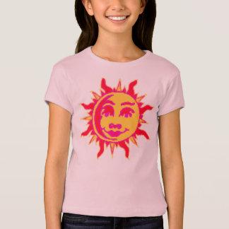 Meisjes Gepaste T-shirt met het Motief van de Zon