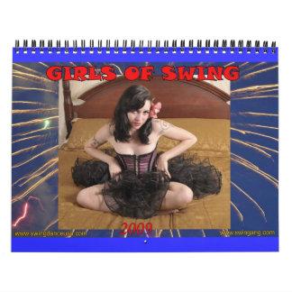 Meisjes van de Kalender van de Schommeling 2009