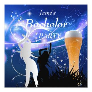 Meisjes van het Glas van het Bier van de Partij 13,3x13,3 Vierkante Uitnodiging Kaart