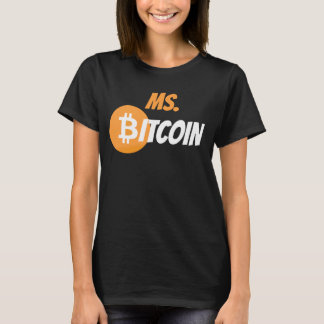 Mej. Bitcoin Block Chain Cyrptocurrency Overhemd T Shirt