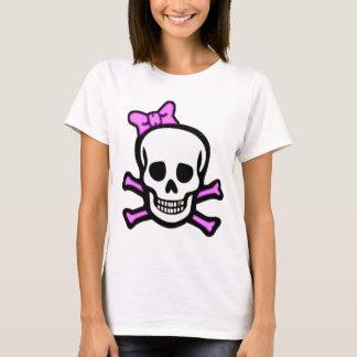 Mej. Skull & Gekruiste knekels met Gouden Tand T Shirt