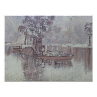 Melbourne - Aak langs de Muurschildering van de Fotoafdruk