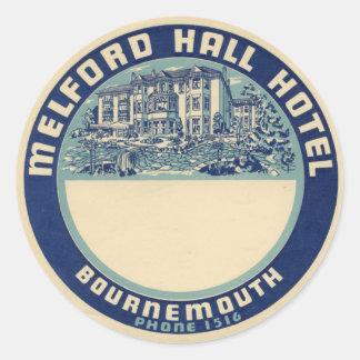 Melford Hal Hotel Ronde Sticker