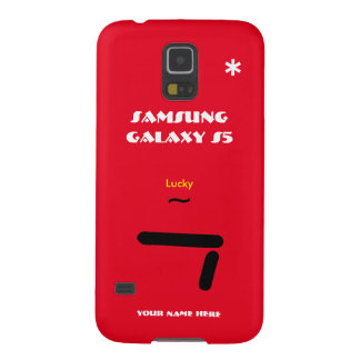 Melkweg van Samsung S5 gelukkige 7 Red3 past uw Galaxy S5 Hoesje