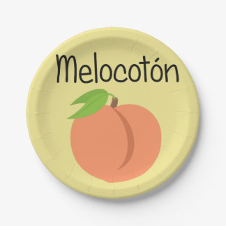 Melocoton (Perzik) Papieren Bordje