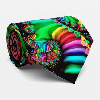 Melodische Fractal van de Regenboog Spiraal Persoonlijke Stropdassen
