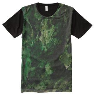 Men T-shirts, green, black, sweater, short sleeves Volledig Bedrukte T-shirts