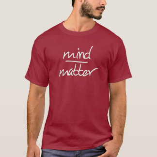 Mening over kwestieoverhemd t shirt