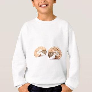 Menselijk die hersenenmodel op witte achtergrond trui