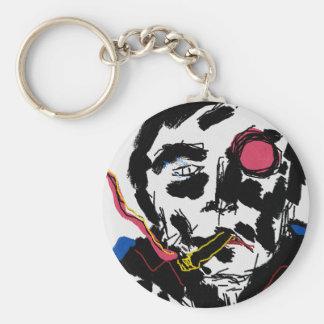 Menselijk gezicht Funky Keychain Sleutelhanger