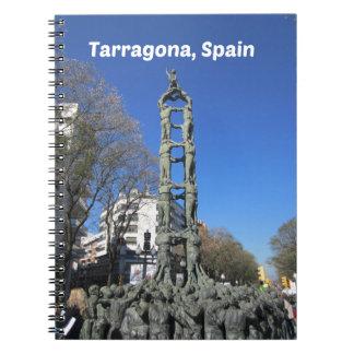 Menselijk torenstandbeeld, Spanje Notitieboek