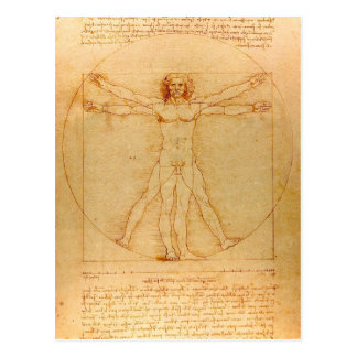 Menselijke Anatomie, Man Vitruvian door Leonardo Briefkaart