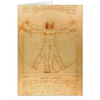 Menselijke Anatomie, Man Vitruvian door Leonardo Kaart