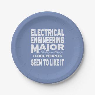 Mensen van de Universiteit van de Elektrotechniek Papieren Bordje