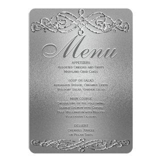 Menu | van het diner de Zilveren Elegantie van de Kaart