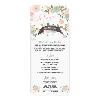 Menu's van het Diner van het Huwelijk van de Kaart