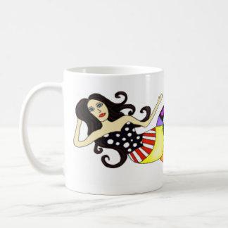 MER-mok Kleurrijke Meermin Koffiemok