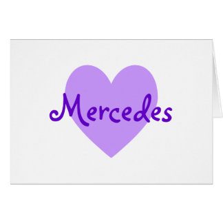 Mercedes in Paars Kaart
