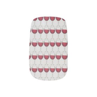 Merlot van de Wijnmakerij van de Fles van het Glas Minx Nail Art