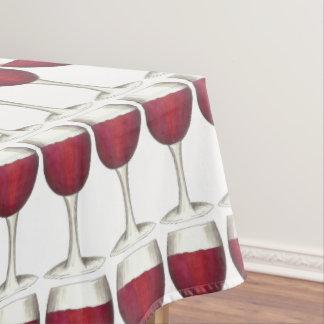 Merlot van de Wijnmakerij van het Glas van de rode Tafelkleed