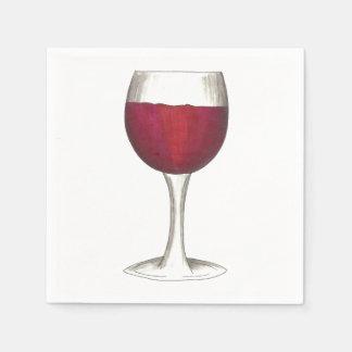 Merlot van de Wijnmakerij van het Glas van de rode Wegwerp Servetten