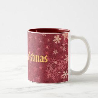 Merry Christmas Tweekleurige Koffiemok