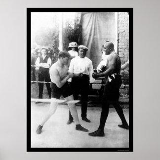 Messenmaker versus Johnson Bokswedstrijd 1914 Poster