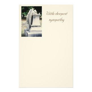 Met de diepste sympathie het Huilen Kantoorbehoeft Briefpapier