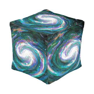 Met de hand geschilderde Melkweg Vierkante Poef