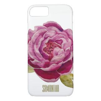 Met de hand geschilderde Roze Bloemen de Dekking iPhone 8/7 Hoesje