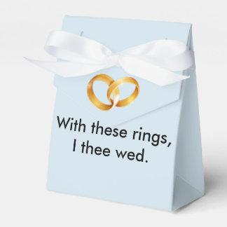 Met deze ringen I thee wed Bedankdoosjes