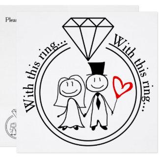Met Dit Huwelijk van het Paar van het Cijfer van Kaart