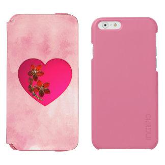 Met juwelen getooid Roze Hart op Roze Waterverf