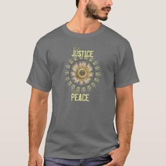 Met Rechtvaardigheid komt de T-shirt van de Vrede