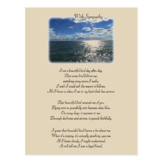 Met Sympathie: Mooie Vogel Briefkaart