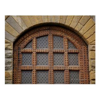 Metaal en houten deur, Florence, Italië Briefkaart
