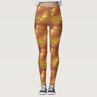 metaal gouden patroon leggings