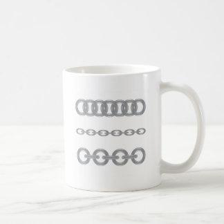 metaal ketting koffiemok