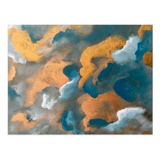 Metaal Wolken Briefkaart
