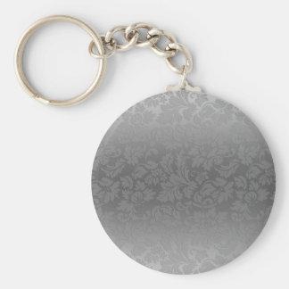 Metaal Zilveren Grijze Monochromatische Basic Ronde Button Sleutelhanger
