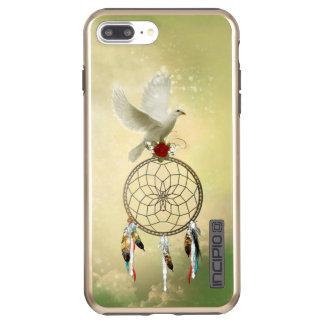 MetaaliPhone 8/7 van Dreamcatcher van de duif plus Incipio DualPro Shine iPhone 8/7 Plus Hoesje